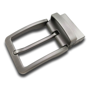 Fixed gentlemen technical plating custom-made zinc alloy reversible pin belt clip buckle for Split leather belt