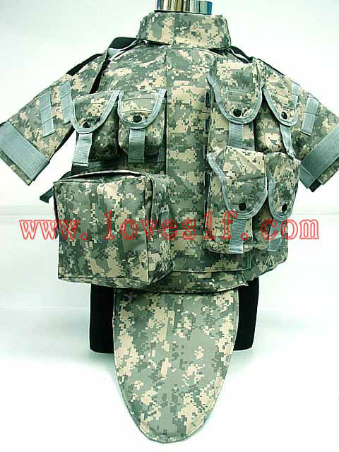 OTV Body Armor Carrier Tactical Vest-Digital ACU Camo