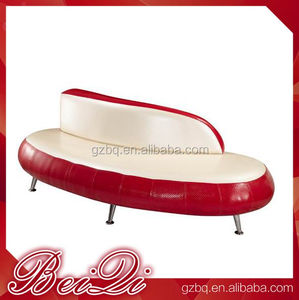 Antique Red Beauty Salon Waiting Chairs Wholesale Barber Shop Waiting Chairs, Cheap Waiting Room Bench Seating