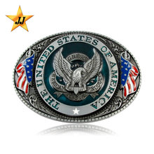 Factory directly eagle shape custom reversible fashion belt buckle