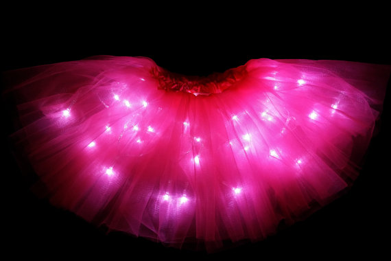 Kids Child party dance LED Light up Tutu Skirt with Batteries Fits Toddler 2 to Girls 8 фото