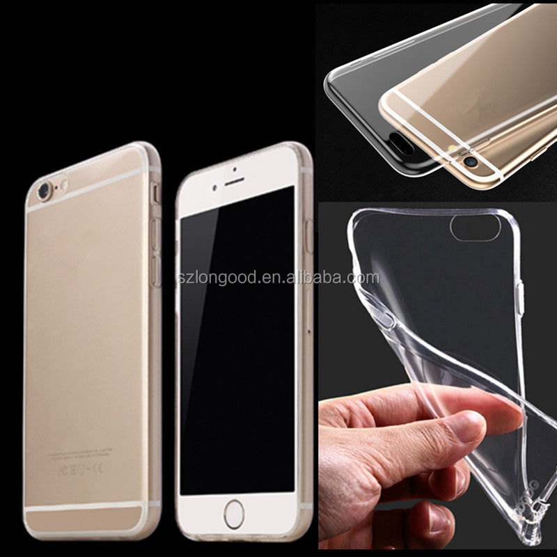 Ultra Thin Clear Crystal Transparent TPU cell phone Case Cover For iPhone 6