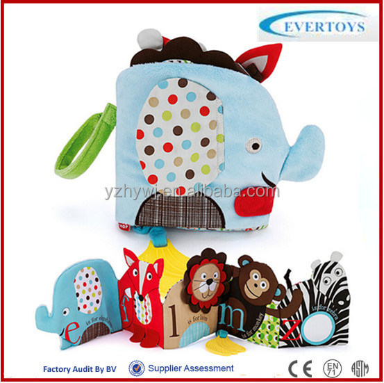2016 New product OEM baby cloth educational preschool books