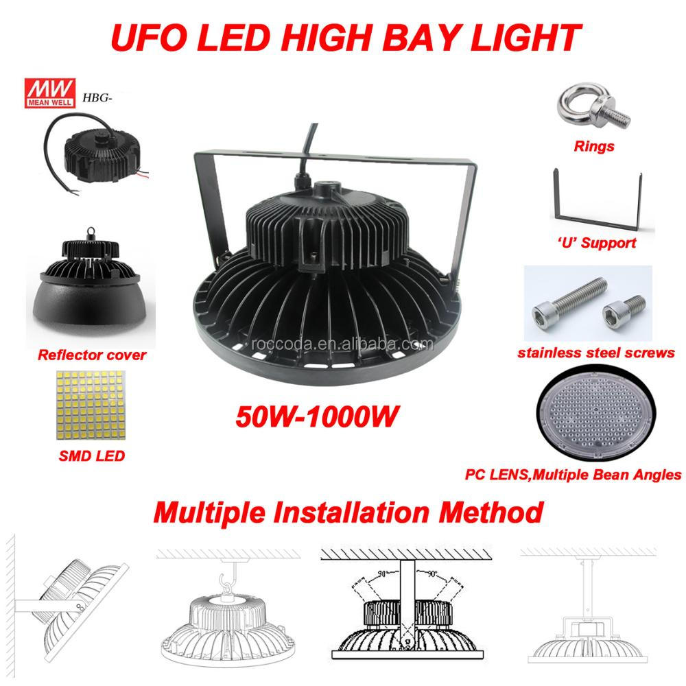 150w ETL CE UL DLC wireless 5 Years zigbee 80w 100w 120w 160w 200w 240w Led High Bay Ufo Led High Bay Light, HighBay Lamp