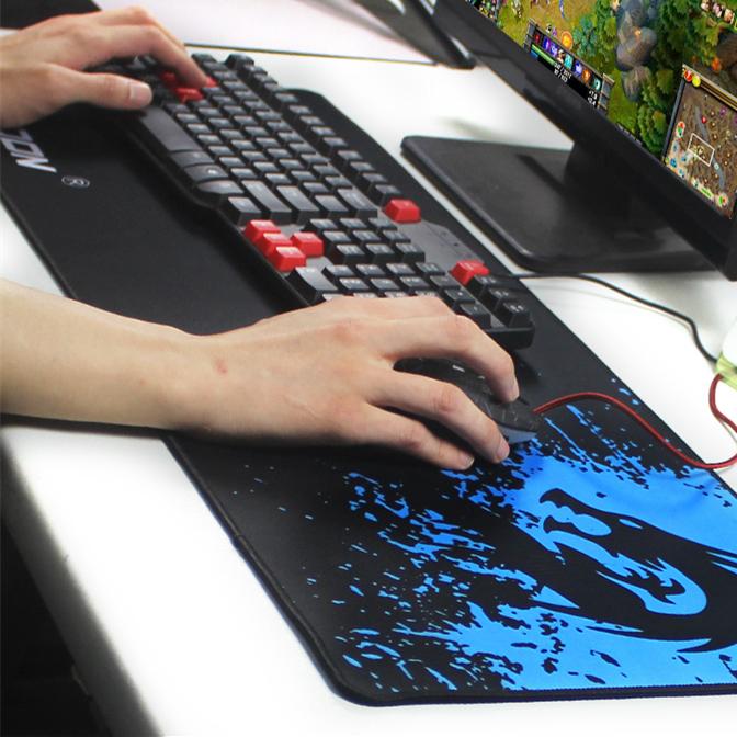 Rakoon Xinlong большой игровой коврик для мыши блокировки края коврик для мыши скорость / контроля версий для интернет-баре коврик 6 размеры