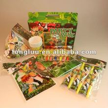 Popular design and food grade quality of 6 shares party box with various party favors