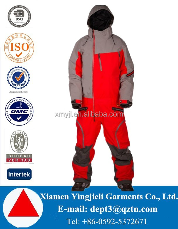 2016 New Design Waterproof Ski Suit One Piece Ski Racing Suit Men Adults