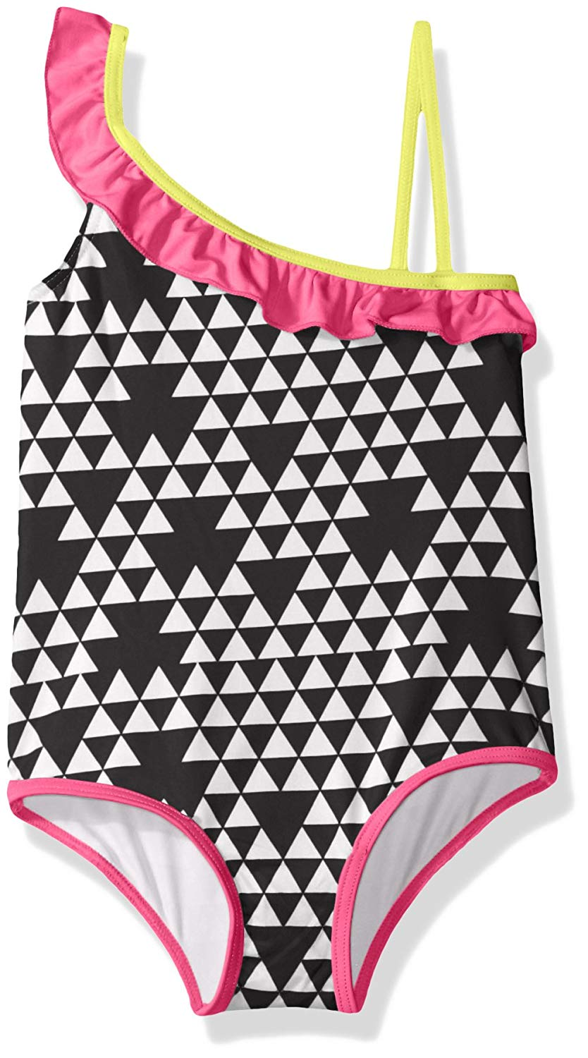 1284f697f082d Get Quotations · Pink Platinum Girls' Triangle Print One Piece Swimsuit