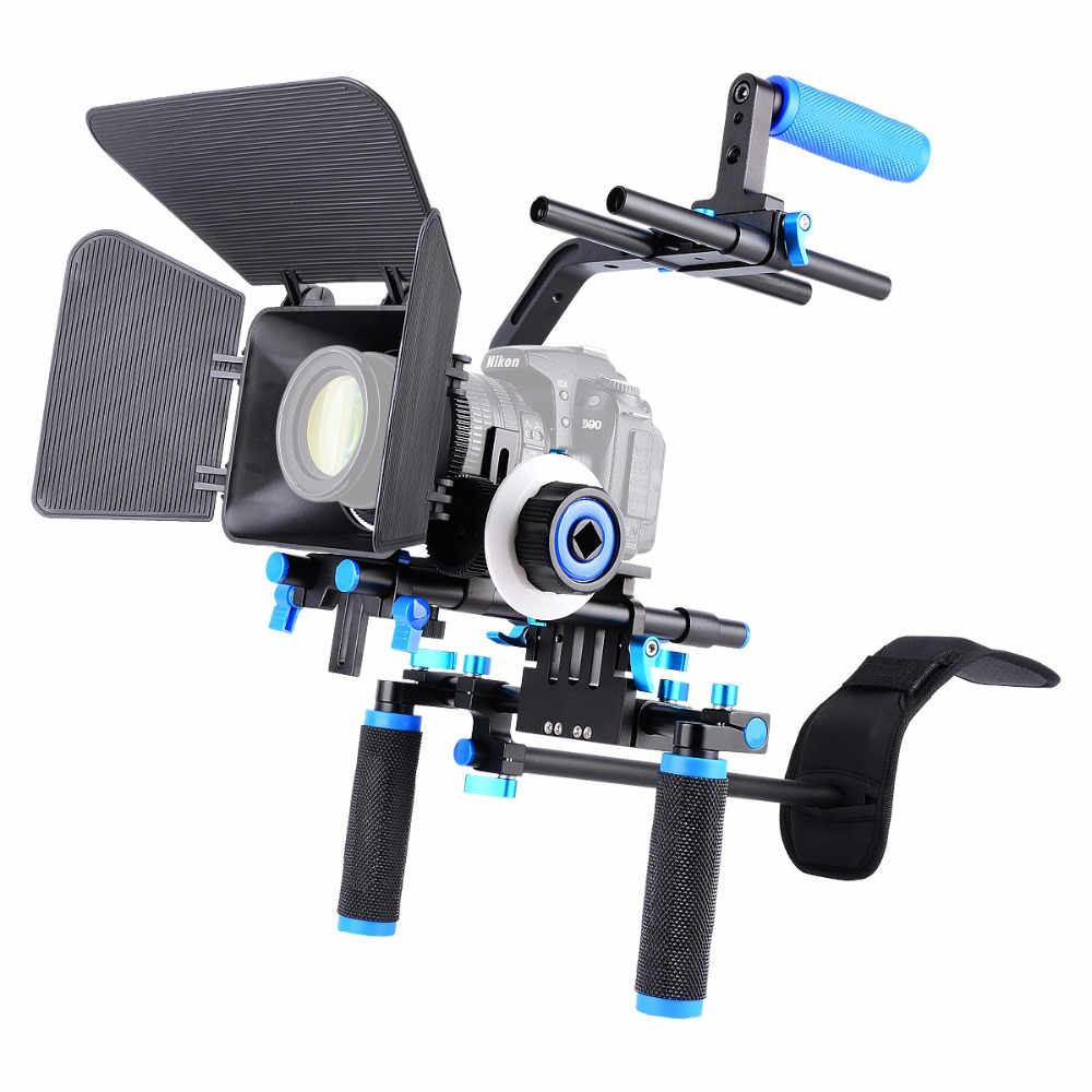 YELANGU D102 Shoulder Rig kit DSLR Shoulder Mount Rig With Quick Release Baseplate Foll for DSLR and DV Camcorders