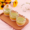 high white glass 85 ml Egg shell pudding bottle glass wholesale pudding cup yoghourt glass cup