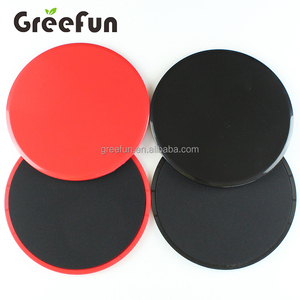2 Piece Core Sliders Gliding Discs Set and Exercise Regimen Poster for Home Gym and Abdominal Strength Training Workout