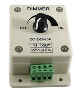 Eastchina| Dc 12 Volt 8 Amp PWM Dimming Controller for LED Lights or Ribbon Lights, Dc 12 Volt 8 Amp 96w Adjustable Brightness Light Switch Dimmer Controller for Led Strip Light
