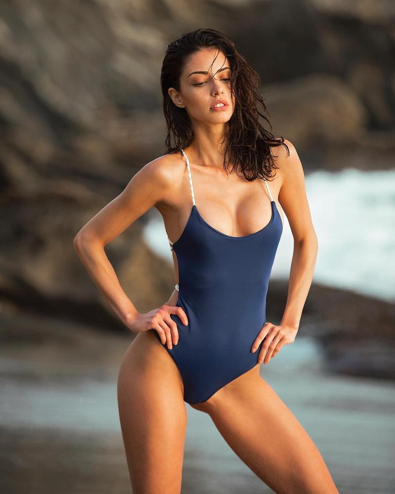 Bikini 2019 New Fashion Women One Piece Swimsuit Solid Zipper Sexy Gathered Swimsuit Bathing Suit One Piece Swim Suit Swimwear Skilful Manufacture Body Suits Swimming