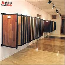 Mdf display shelves board rack large flip type tile/laminate flooring show cabinet