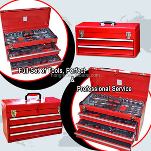 Hongfei selling popular red car drawer cheap metal tool boxes with 2 drawer
