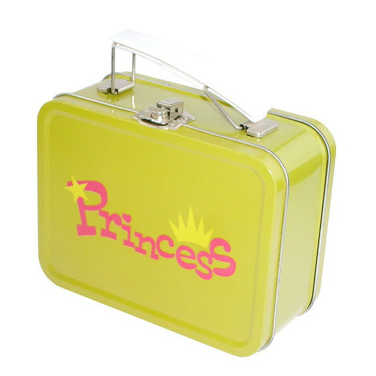 Promo rectangular lunch tin box with handle