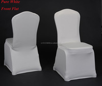 Factory Hotel/wedding/Banquet supplies spandex fabric lycra chair cover - White