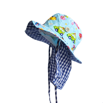 Cartoon Printed Summer Kids Baby Flap Sun Protection Hat - Buy Baby ... ec01b34a4052