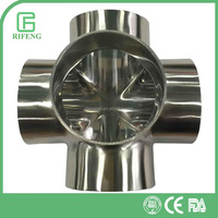 Sanitary Stainless Steel Certificated Welding 5-Way Pipe Fitting
