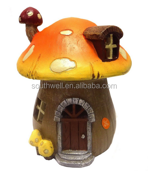 New Design Solar Miniature Mushroom Fairy Garden House - Buy Fairy Garden  House,Sloar Fairy Garden House,Solar Mushroom Fairy House Product on