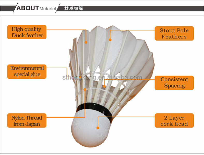 Original RSL badminton shuttlecock RSL.4 Feather Shuttlecock/Best Durability top grade duck feather shuttlecock for tournament