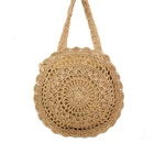 Crochet handmade bali straw bags lady circle paper straw bag in colors