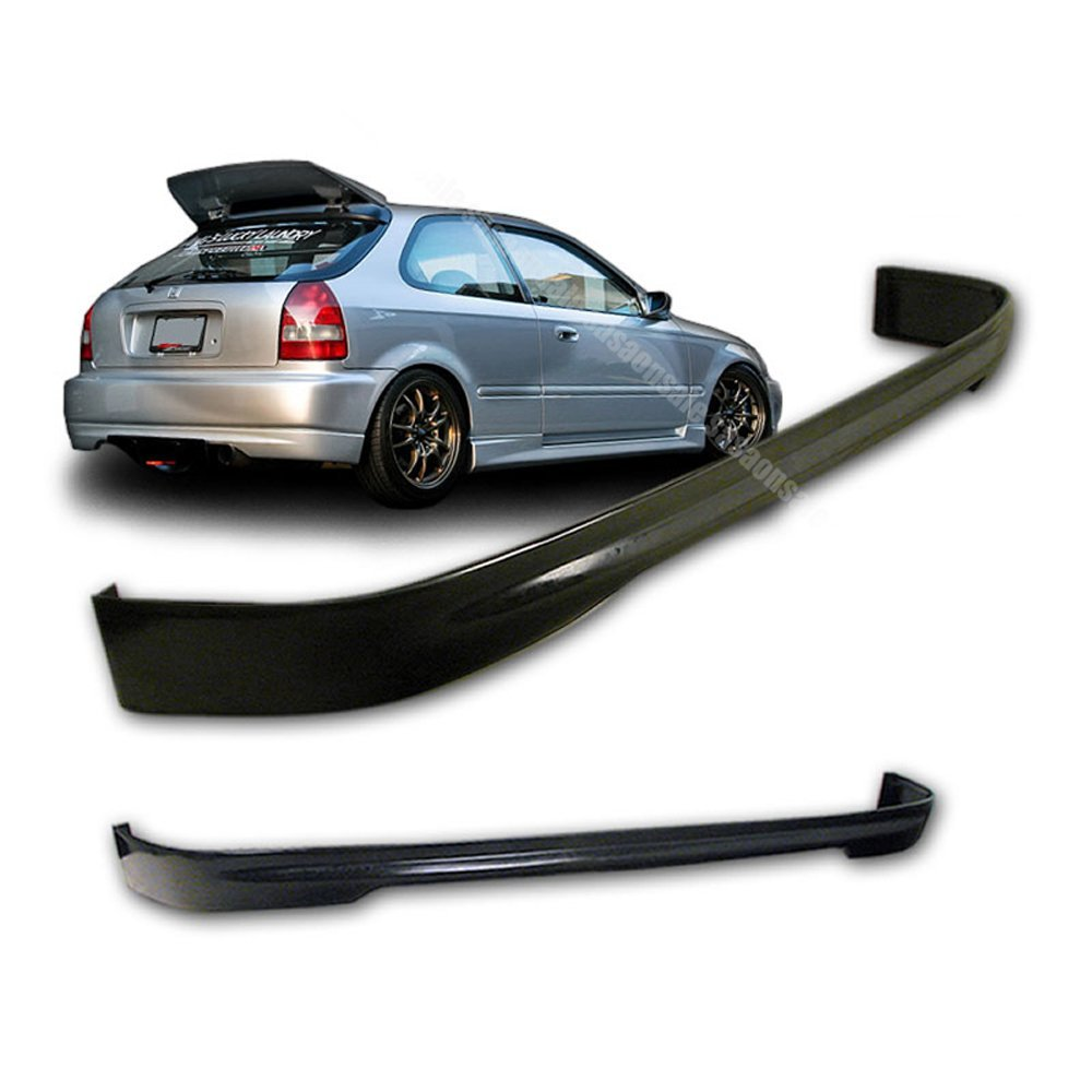 NEW - 96 97 98 99 00 Aftermarket Made HONDA CIVIC 3 Doors TYPE-R Rear PU Bumper Add on Lip