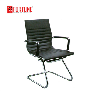 Exported to Fiji and Turkey pu leather cantilever office visitor chair (FOH-F11-C1)