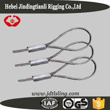 Custom pressed galvanized steel wire rope sling with lifting eye