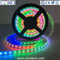 SMD 5050 5V WS2813 Individually 60 Pixel Addressable RGB IP67 waterproof Flexible Led Strip Light