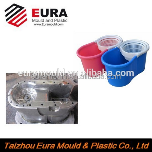 EURA Household plastic single bucket spin mop mould