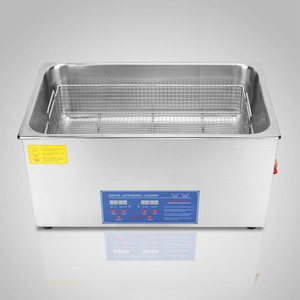 30L New Heater Timer Bracket Jewelry Cleaning 1400W Digital Stainless Steel Ultrasonic Cleaner