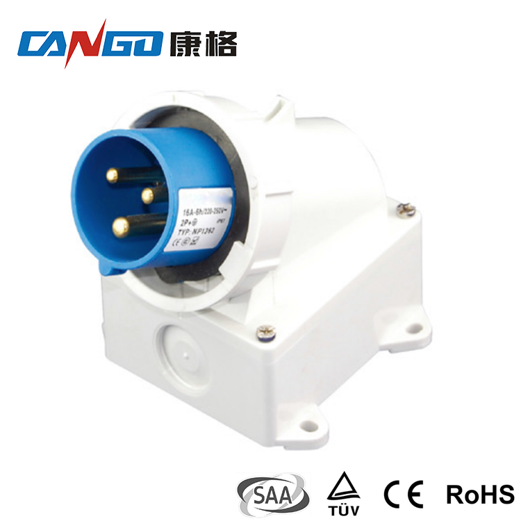 Factory Directly Sell Watertight 220v 16A Industrial Plug