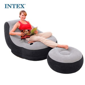 bedroom furniture intex 68564 ultra inflatable outdoor sofa lounge with ottoman+inflatable chair+inflatable sofa