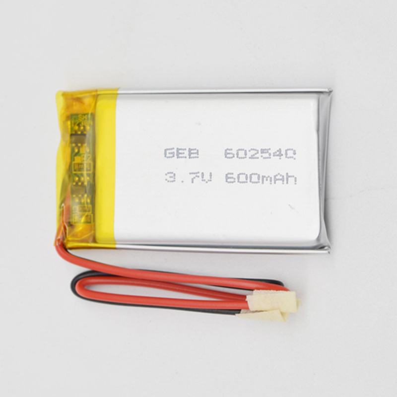 Rechargeable 602540 3.7V600mAh li-ion polymer battery for small machine