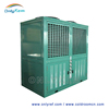 Refrigeration machine condensing unit with open type compressor