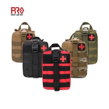 Wholesale Compact Red Utility Tactical Pouch MOLLE EMT IFAK Medical First Aid Bag For Outdoor Camping Travel