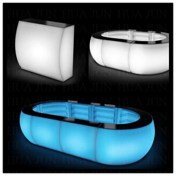 Portable Light Bar Table/acrylic Led Cocktail Bar Table