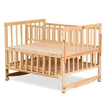 Bedroom Size Wooden Baby Crib Furniture Setting For Twins With Wheels Cribs