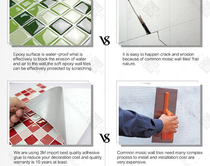 Interior Wall Design Materials Vinyl Decorative Wall Tile