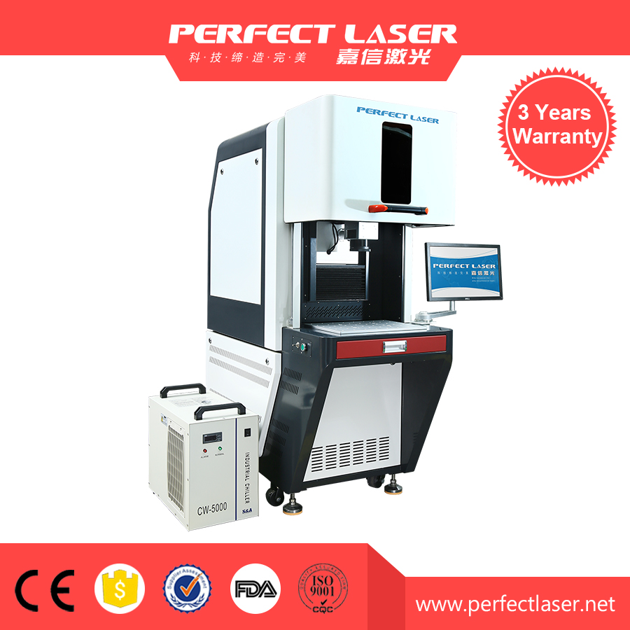 Free of maintenance high speed galvo laser marking machine for plastic usb cable