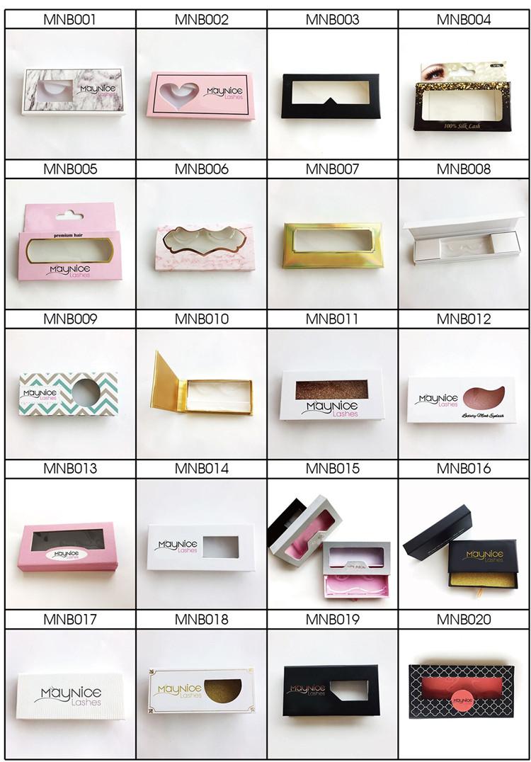 Wimpern für Eigenmarken mit eigenem Logo Paper Card Package Box