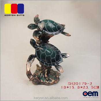 China Hersteller Indoor Outdoor Schildkröte Dekoration Life Size Polyresin Statuen
