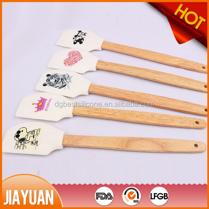 silicone baking spatula with printing
