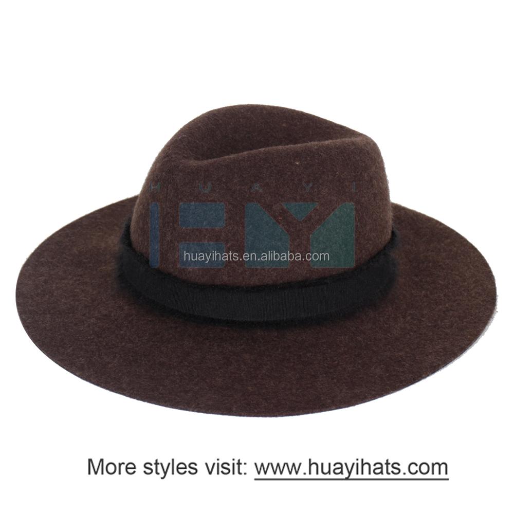 b8d3e07c52f2e Panamá Chapéus de Feltro De Lã Chapéu Senhoras Promoção Barato Com Moda  Cinto Elegante Banda Fita
