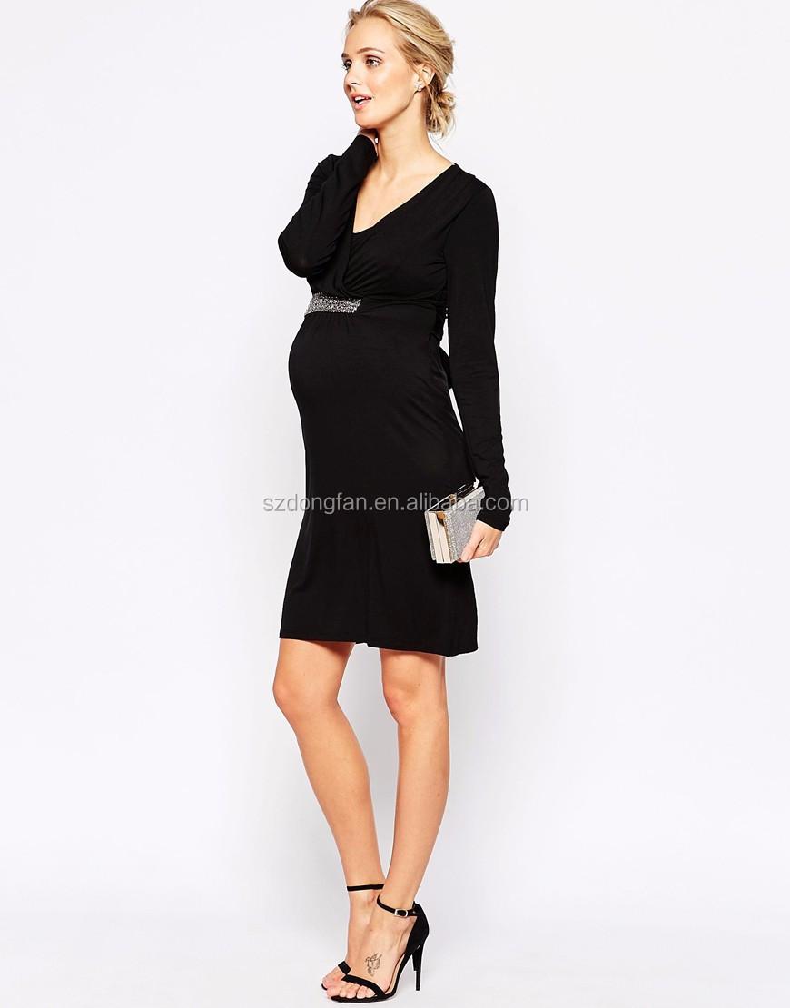1527feb0e Alta calidad ropa de maternidad embarazada elegante cuadros de los vestidos  formales de las mujeres
