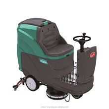 concrete electronic back scrubber cleaning machine