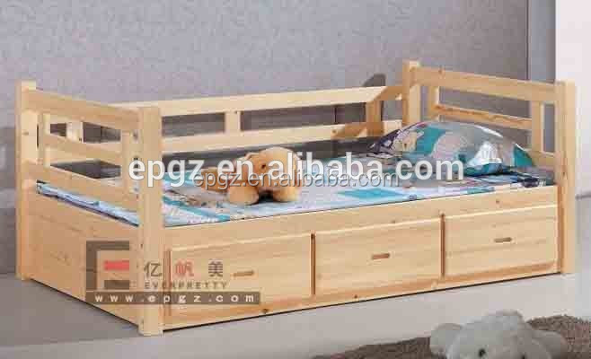 Children Beds with Storage Child Colorful Cot of Kids Bedroom Furniture
