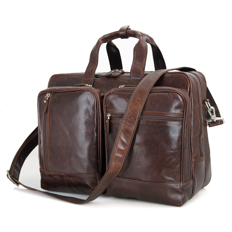 7343c Hot Selling Genuine Cow Leather Mens Leather Business ...