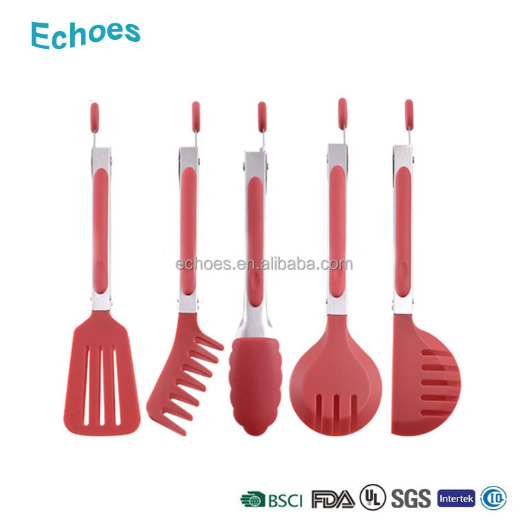 Multiple design plastic kitchen food tongs stainless steel spaghetti tongs